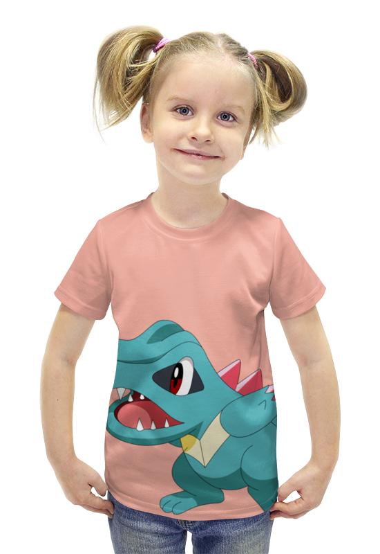 Футболка с полной запечаткой для девочек Printio Тотодайл футболка с полной запечаткой для девочек printio spawn