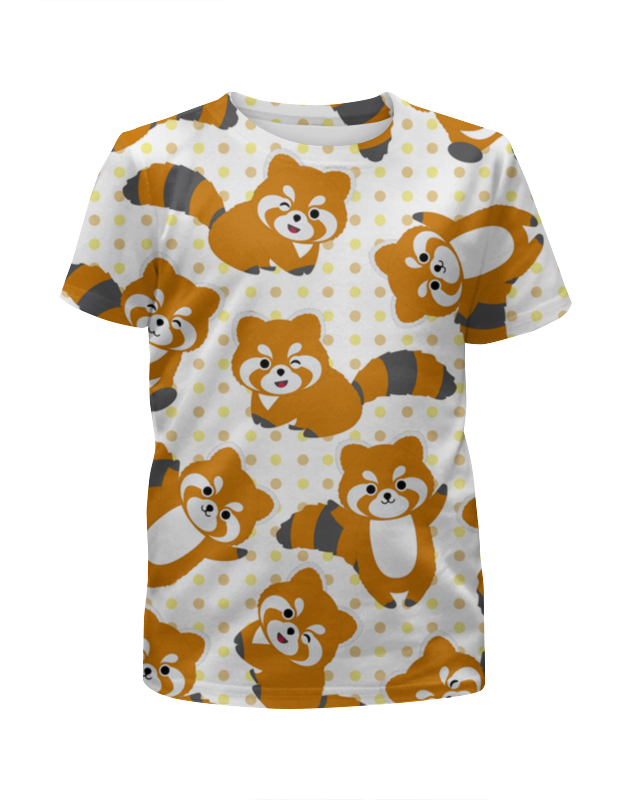 Футболка с полной запечаткой для девочек Printio Еноты футболка с полной запечаткой для девочек printio на отдых