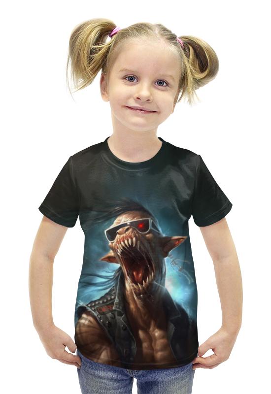 Футболка с полной запечаткой для девочек Printio Хипстер футболка с полной запечаткой для девочек printio пртигр arsb