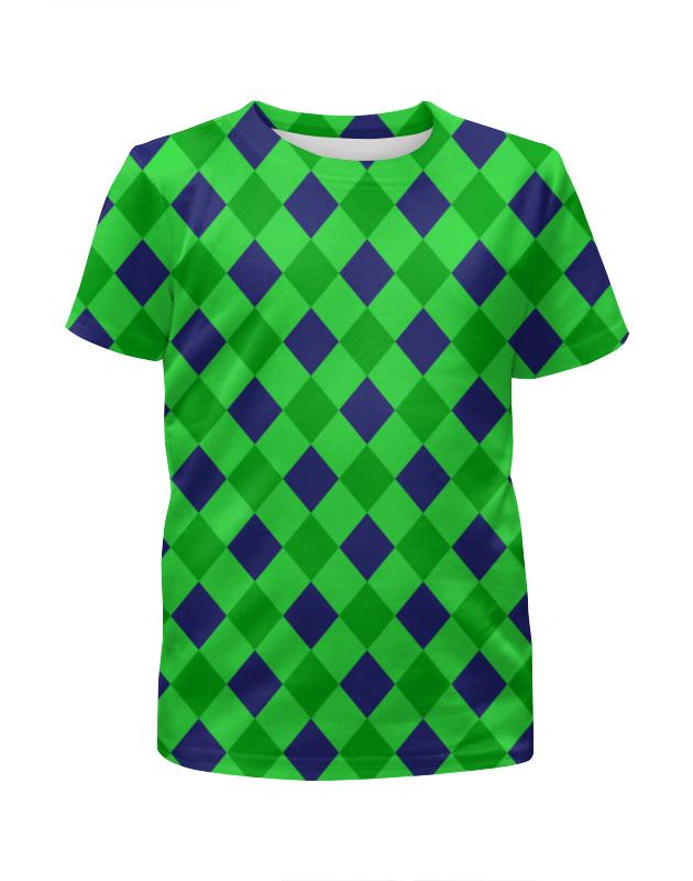 Printio Сине-зеленые квадраты цена