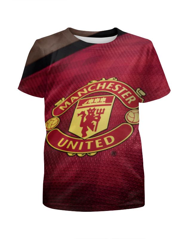 Футболка с полной запечаткой для девочек Printio Манчестер юнайтед (мю)