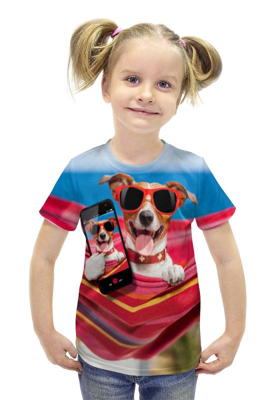 Футболка с полной запечаткой для девочек Printio Собака футболка с полной запечаткой для девочек printio пртигр arsb