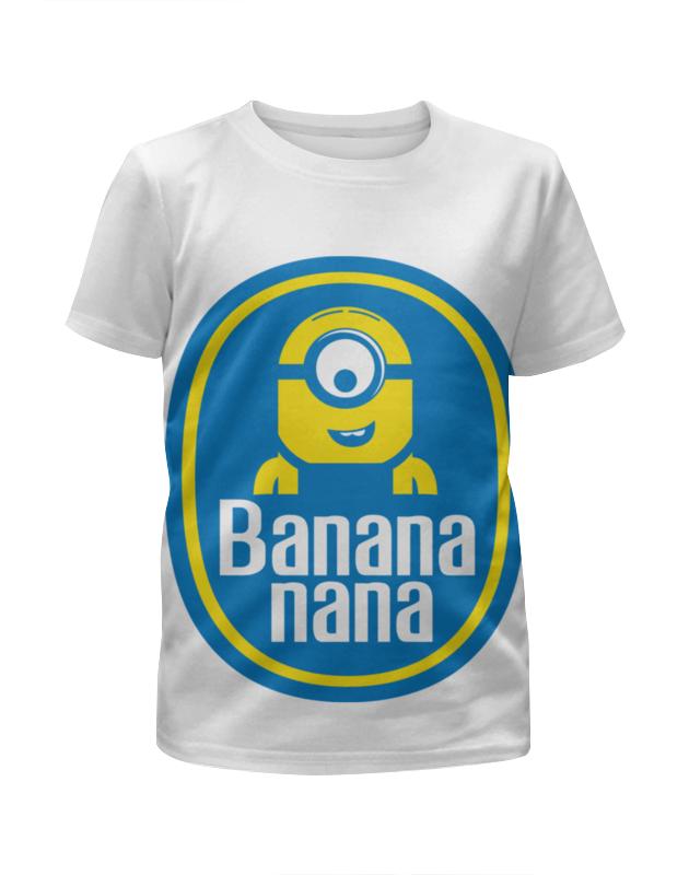 футболка с полной запечаткой мужская printio dolce & banana Футболка с полной запечаткой для девочек Printio Миньоны (banana)