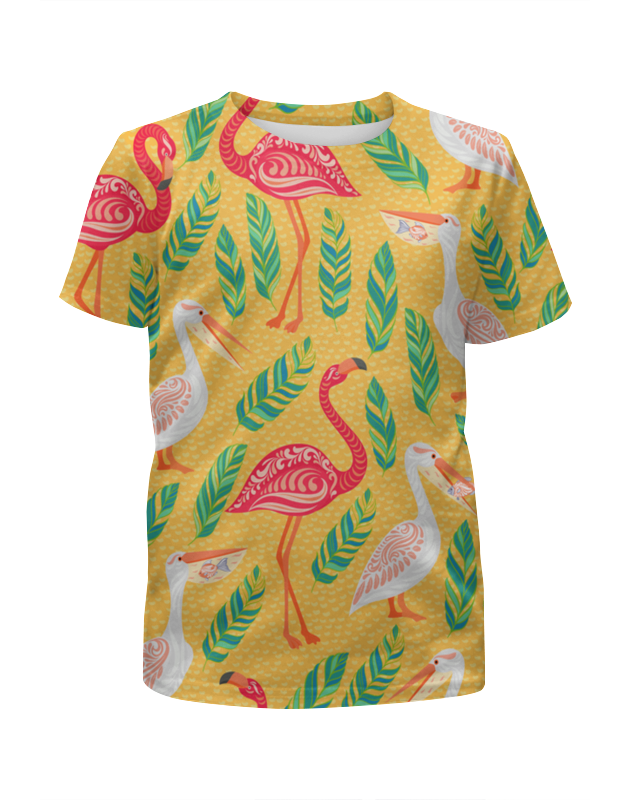 Футболка с полной запечаткой для девочек Printio Птицы футболка с полной запечаткой для девочек printio пес летчик