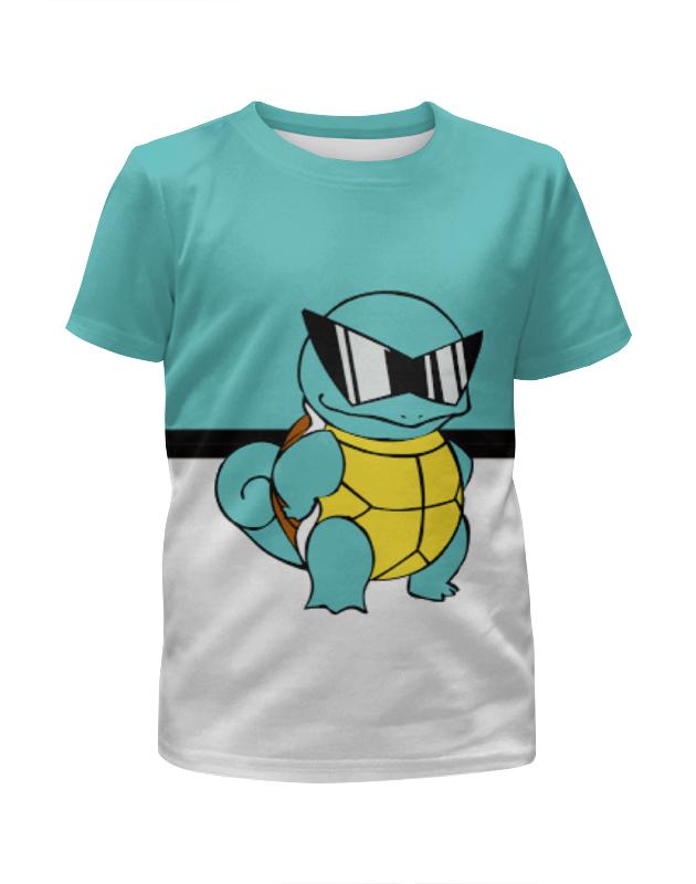 все цены на Футболка с полной запечаткой для девочек Printio Pokemon squirtle онлайн