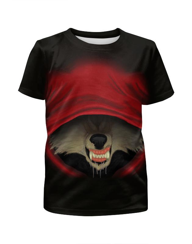 Футболка с полной запечаткой для девочек Printio Красная шапочка футболка с полной запечаткой мужская printio красная шапочка и серый волк 3