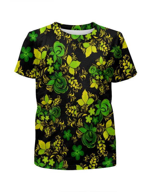 Футболка с полной запечаткой для девочек Printio Зеленый узор футболка с полной запечаткой для девочек printio пртигр arsb
