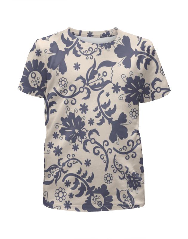 Футболка с полной запечаткой для девочек Printio Весенний узор футболка с полной запечаткой для девочек printio пртигр arsb