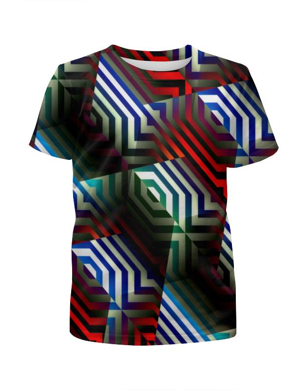 Футболка с полной запечаткой для девочек Printio Цветной орнамент футболка с полной запечаткой для девочек printio пртигр arsb