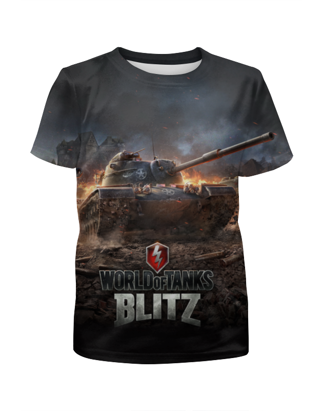 Футболка с полной запечаткой для девочек Printio Мир танков футболка с полной запечаткой для девочек printio spawn