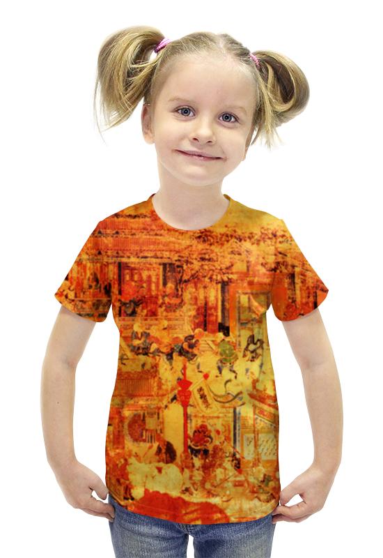 Футболка с полной запечаткой для девочек Printio Шаолинь футболка с полной запечаткой printio важнейшее из искусств мужская