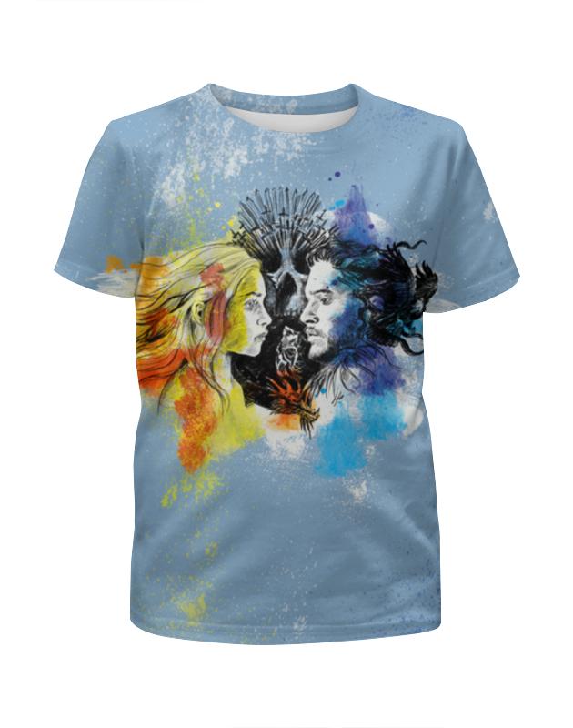 Футболка с полной запечаткой для девочек Printio Игра престолов огонь и лед футболка с полной запечаткой для девочек printio синий огонь