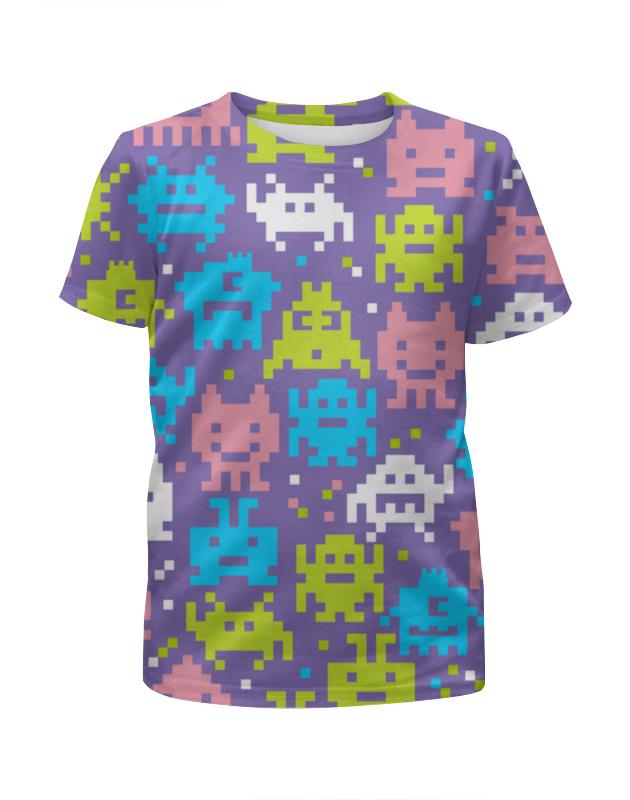 Футболка с полной запечаткой для девочек Printio Космические захватчики футболка с полной запечаткой для девочек printio щенок