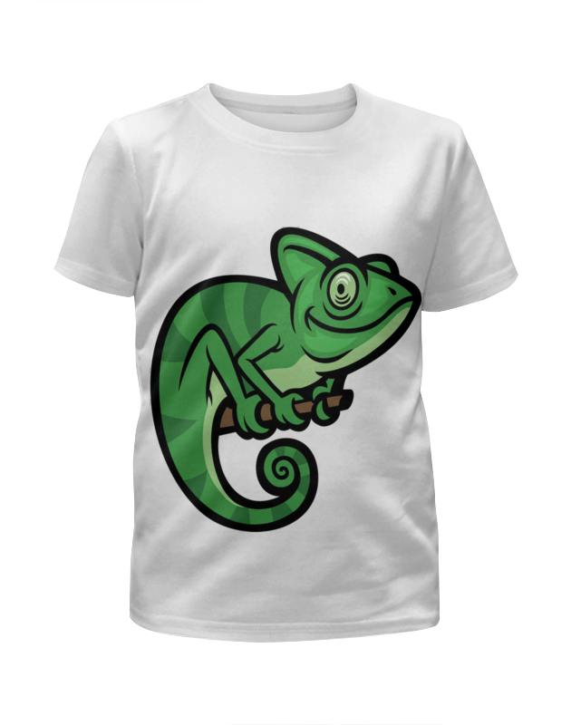 Футболка с полной запечаткой для девочек Printio Игуанка футболка с полной запечаткой для девочек printio детство