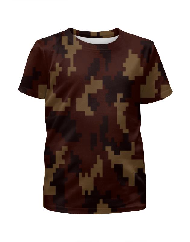 Футболка с полной запечаткой для девочек Printio Camouflage brown футболка с полной запечаткой для девочек printio camouflage style