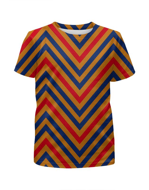 Футболка с полной запечаткой для девочек Printio Разноцветные линии футболка с полной запечаткой для девочек printio узор линии