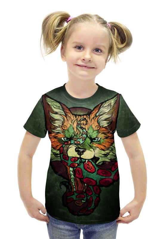 Футболка с полной запечаткой для девочек Printio Fox001 футболка с полной запечаткой для девочек printio пртигр arsb