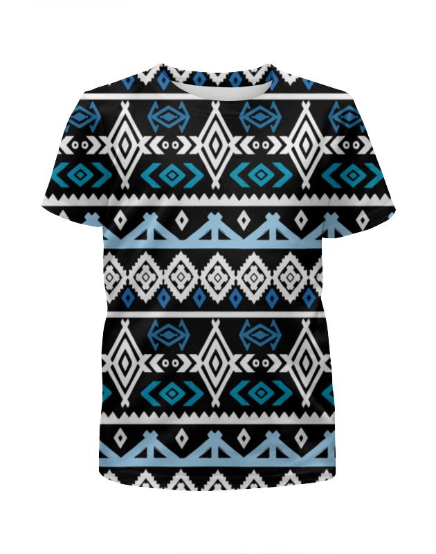 Футболка с полной запечаткой для девочек Printio Узор ромбы футболка с полной запечаткой для девочек printio волнистый узор