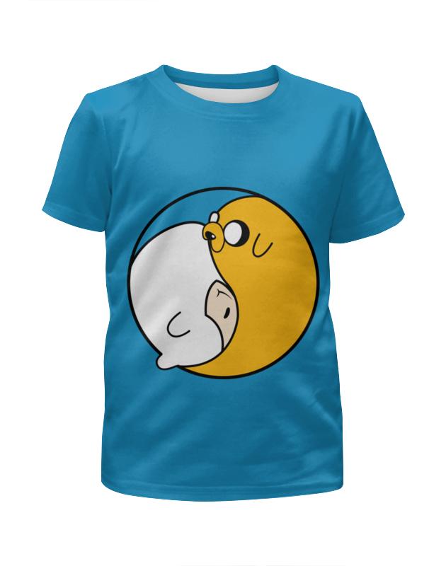 Футболка с полной запечаткой для девочек Printio Adventure time / время приключений цены онлайн