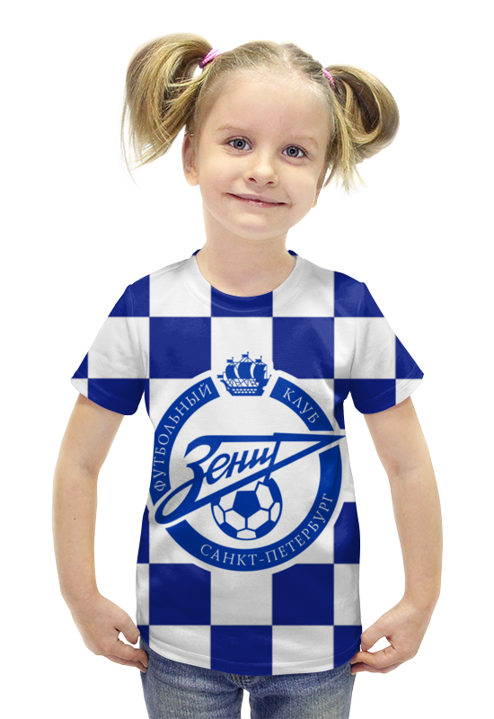 Футболка с полной запечаткой для девочек Printio Зенит пфк оптика к фотоопарату зенит с зумом 200