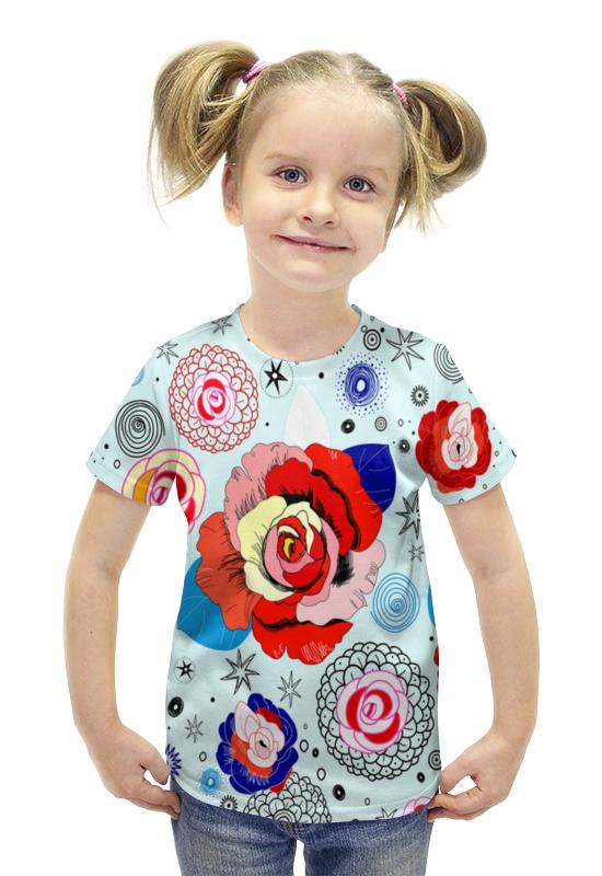 Футболка с полной запечаткой для девочек Printio Цветочки футболка с полной запечаткой для девочек printio пртигр arsb