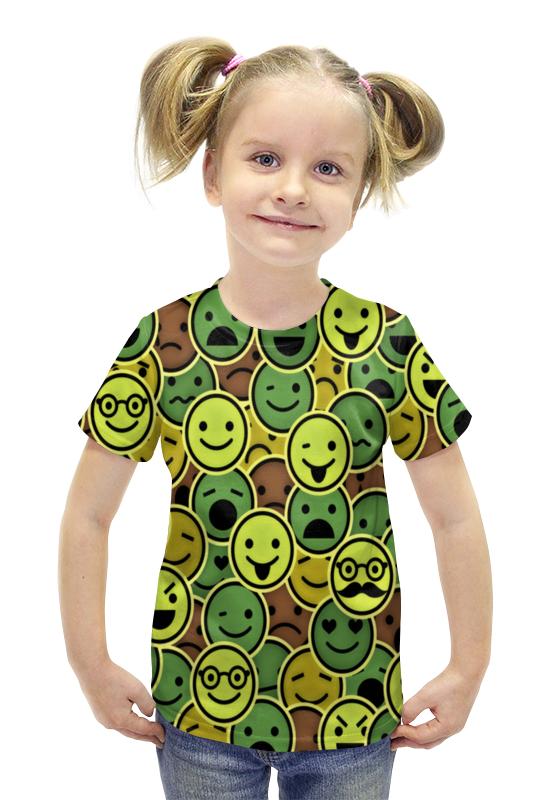 Футболка с полной запечаткой для девочек Printio Смайлы футболка с полной запечаткой для девочек printio spawn