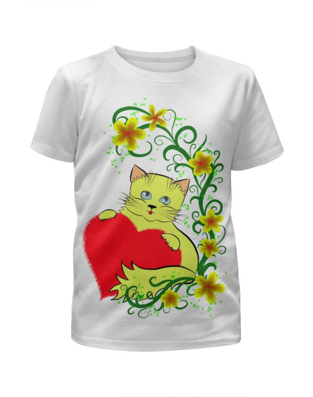 Футболка с полной запечаткой для девочек Printio Котёнок футболка с полной запечаткой для девочек printio дом милый дом