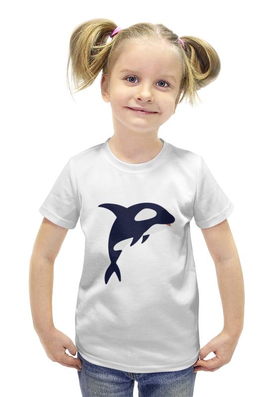 Футболка с полной запечаткой для девочек Printio Касатка футболка с полной запечаткой для девочек printio пртигр arsb