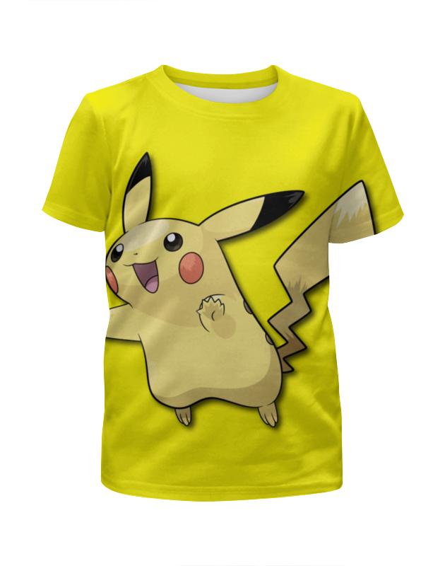Футболка с полной запечаткой для девочек Printio Пикачу футболка с полной запечаткой для девочек printio пиксельный пикачу
