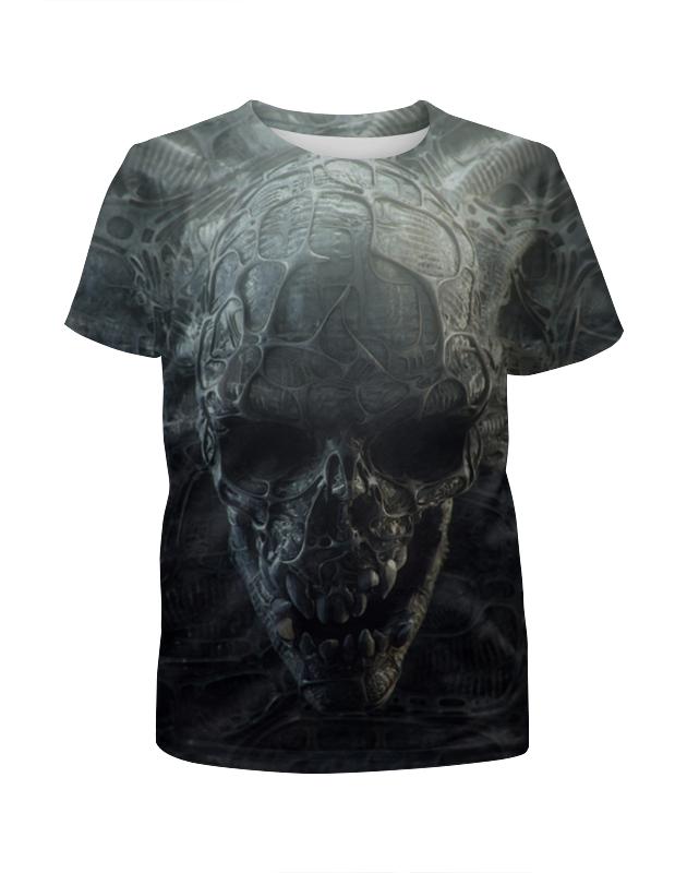 Футболка с полной запечаткой для девочек Printio Skull футболка с полной запечаткой для девочек printio skull art