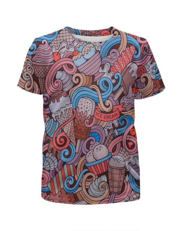Футболка с полной запечаткой для девочек Printio Мороженое футболка print bar мороженое с глазом