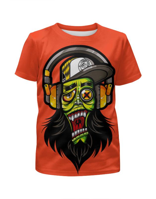 Printio Зомби меломан футболка с полной запечаткой для девочек printio зомби геймер