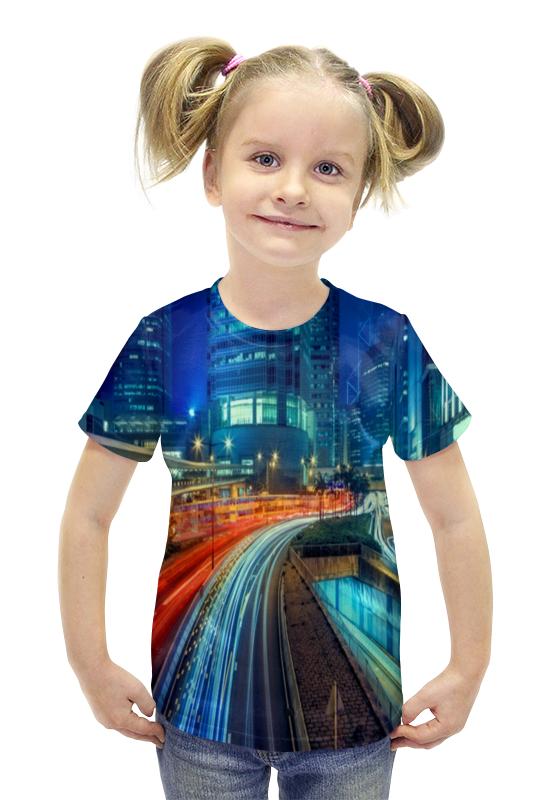 Футболка с полной запечаткой для девочек Printio Гонконг футболка с полной запечаткой для девочек printio пртигр arsb