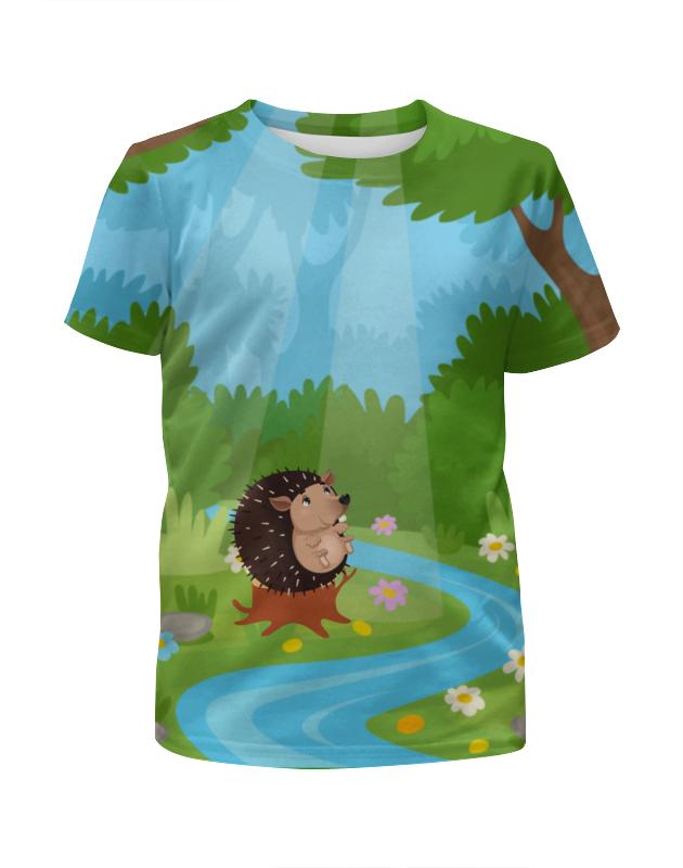 Футболка с полной запечаткой для девочек Printio Забавный ёжик футболка с полной запечаткой для девочек printio spawn