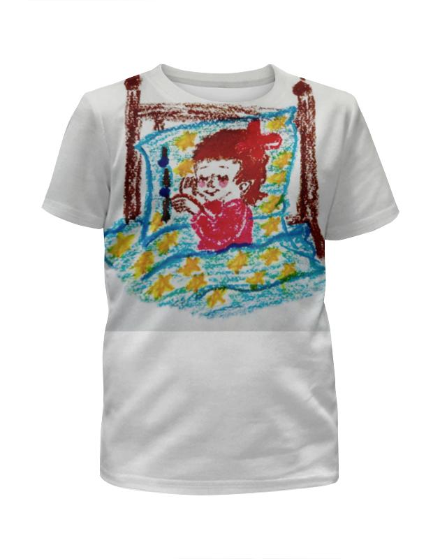 Футболка с полной запечаткой для девочек Printio Дочка спит футболка с полной запечаткой для девочек printio дочка спит