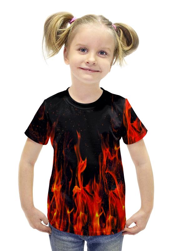 Футболка с полной запечаткой для девочек Printio Пламя футболка с полной запечаткой для девочек printio пртигр arsb
