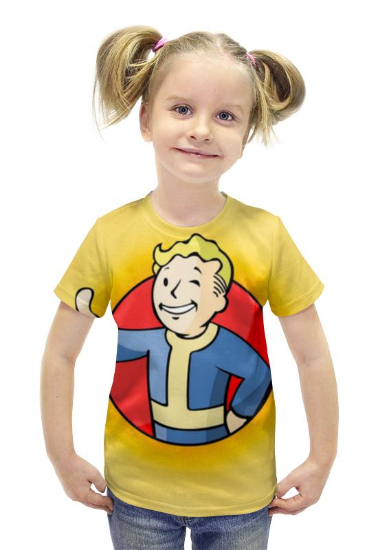 Футболка с полной запечаткой для девочек Printio Fallout 4 , фаллаут , fallout футболка с полной запечаткой для девочек printio fallout