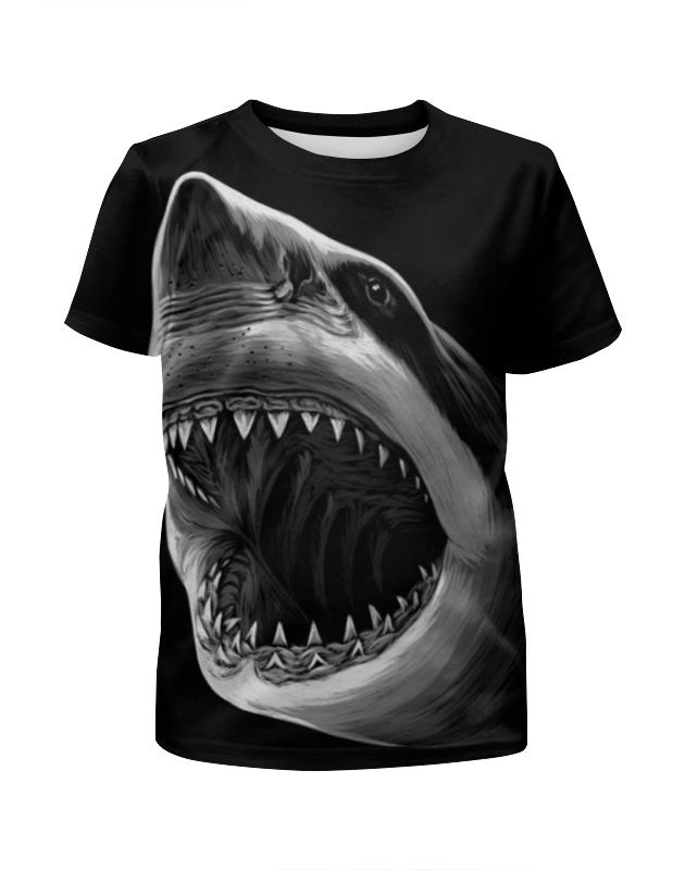 Футболка с полной запечаткой для девочек Printio Акула футболка с полной запечаткой для девочек printio акула