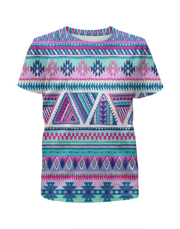 Фото - Футболка с полной запечаткой для девочек Printio Графические узоры футболка с полной запечаткой для девочек printio белые узоры