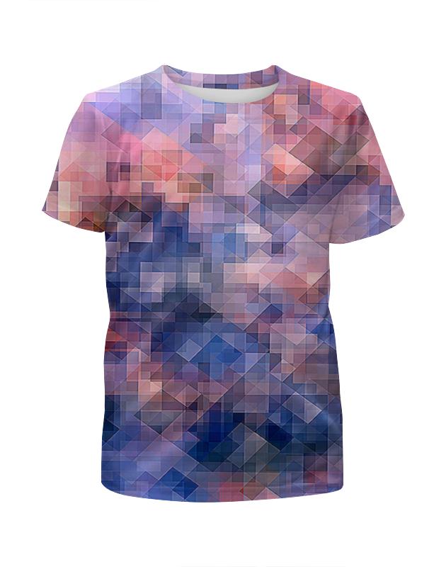 Футболка с полной запечаткой для девочек Printio Пиксель-арт. сине-розовый паттерн волченко ю с пиксель арт