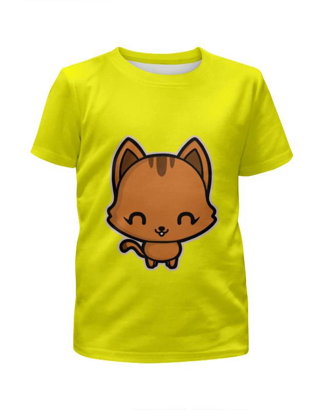 Футболка с полной запечаткой для девочек Printio Милый котёнок футболка с полной запечаткой для девочек printio милый кролик