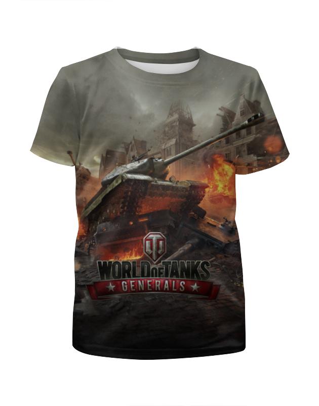 Футболка с полной запечаткой для девочек Printio Мир танков футболка с полной запечаткой для девочек printio пртигр arsb