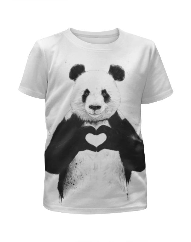 Printio Панда футболка с полной запечаткой для девочек printio комиксы