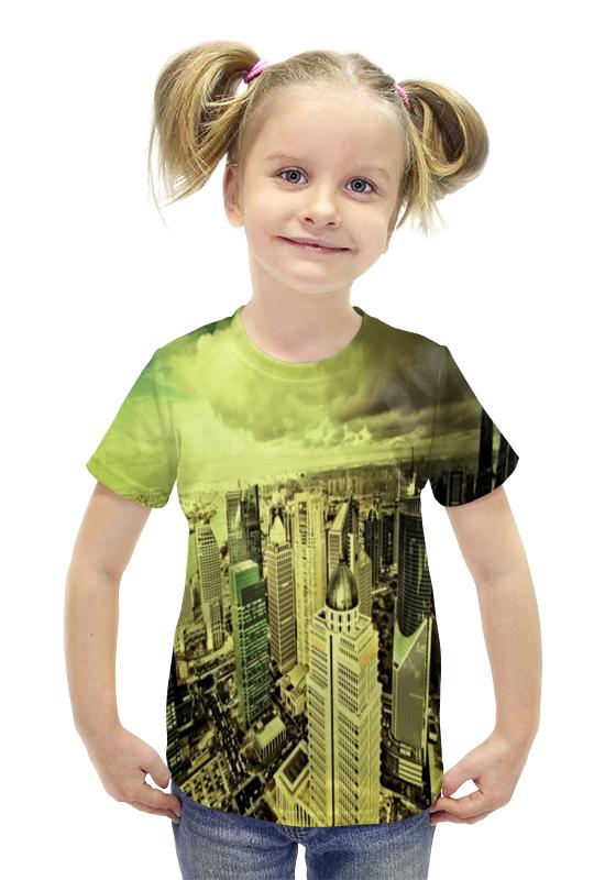Футболка с полной запечаткой для девочек Printio Мегаполис футболка с полной запечаткой для девочек printio пртигр arsb