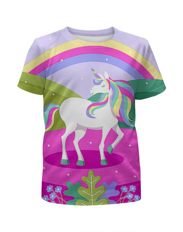 Футболка с полной запечаткой для девочек Printio Единорог футболка с полной запечаткой для девочек printio шреддер