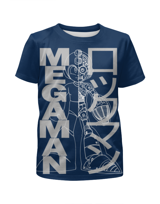Футболка с полной запечаткой для девочек Printio Mega man (rockman) rockman action figures nendoroid megaman x zero figure cannon pvc 10cm collectible model toy mega man bulb base