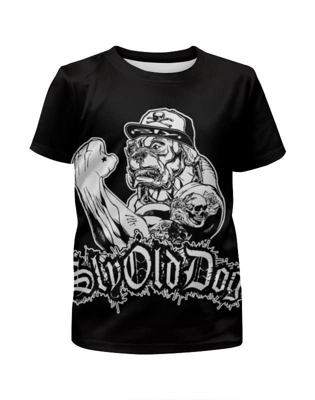 Футболка с полной запечаткой для девочек Printio Sly old dog футболка с полной запечаткой для мальчиков printio sly old dog