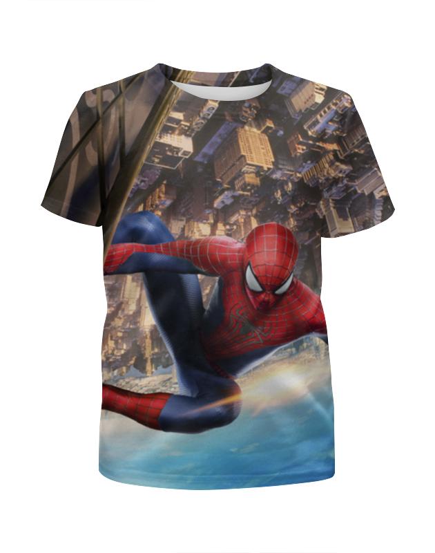 Футболка с полной запечаткой для девочек Printio Spider-man