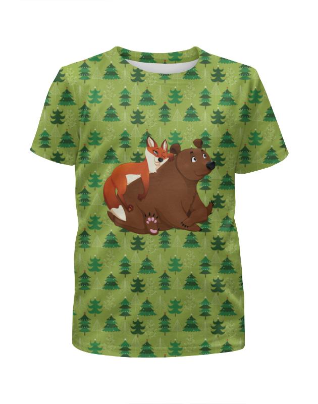 Футболка с полной запечаткой для девочек Printio Забавные животные футболка с полной запечаткой для девочек printio пртигр arsb