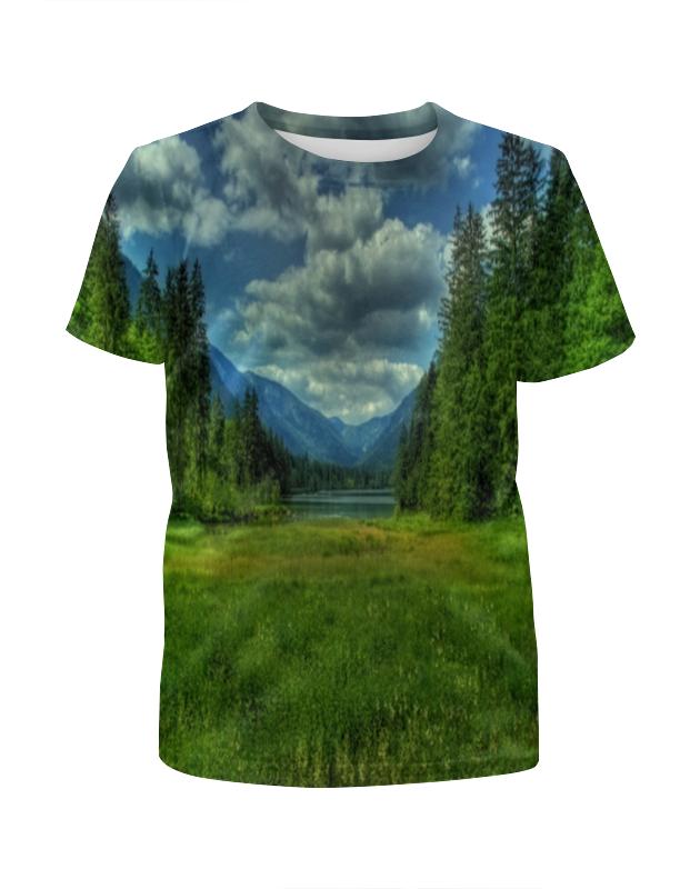Футболка с полной запечаткой для девочек Printio Горный пейзаж футболка с полной запечаткой для девочек printio пейзаж красками